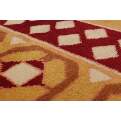 One-of-a-Kind Bettina  Hand-Knotted Wool Dark Gold/Dark Red Area Rug