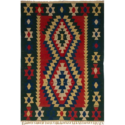 Barnett Hand-Woven Wool Red Area Rug