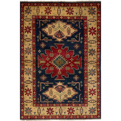 One-of-a-Kind Bernard Hand-Knotted Wool Dark Navy Area Rug