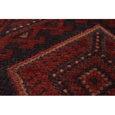 Bilbania Hand-Knotted Wool Dark Red Area Rug