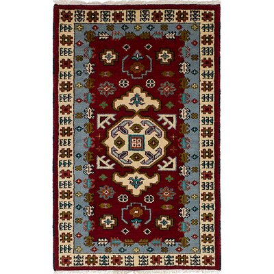 Berkshire Hand-Knotted Wool Dark Red Area Rug