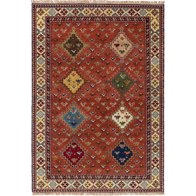 Berkshire Traditional Hand-Knotted Wool Dark Copper Area Rug