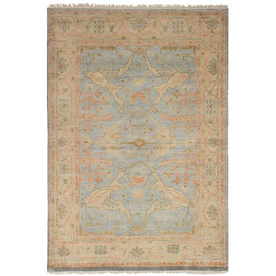 One-of-a-Kind Biddlesden Hand-Knotted Wool Light Blue Area Rug