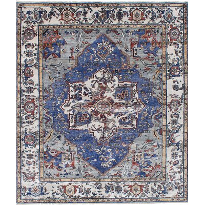 One-of-a-Kind Beverly Hand-Knotted Silk Gray/Blue Area Rug