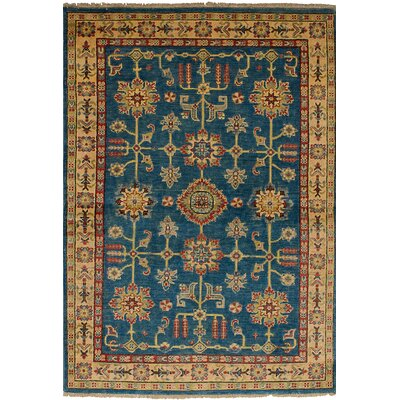 One-of-a-Kind Bernard Traditional Hand-Knotted Wool Blue Area Rug