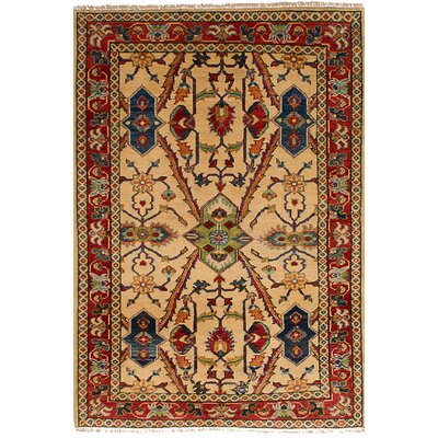 One-of-a-Kind Bernard Hand-Knotted Wool Creamn Area Rug
