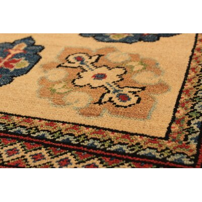 One-of-a-Kind Bernard Hand-Knotted Wool Beige Area Rug