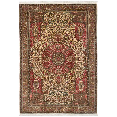 Amberwood Hand-Knotted Wool Cream Area Rug