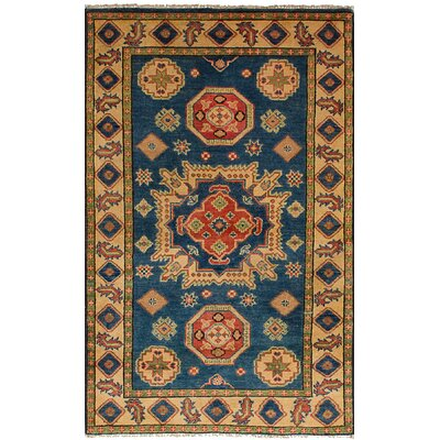 Bernard Hand-Knotted Wool Blue Area Rug