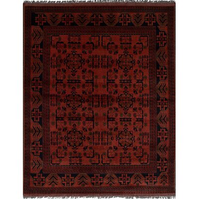 One-of-a-Kind Bilberry Hand-Knotted Wool Dark Copper Area Rug