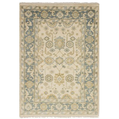 One-of-a-Kind Bason Hand-Knotted Wool Cream Indoor Area Rug