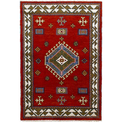 One-of-a-Kind Berkshire Hand-Knotted Wool Red Area Rug