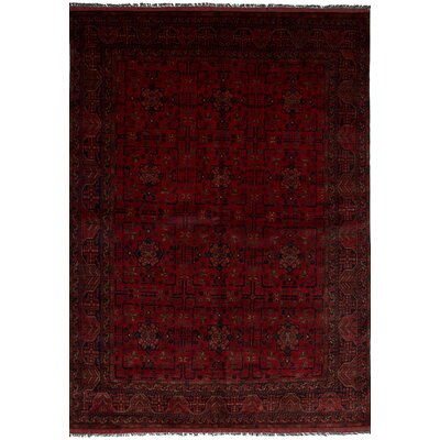 One-of-a-Kind Bilberry Hand-Knotted Wool Red Area Rug