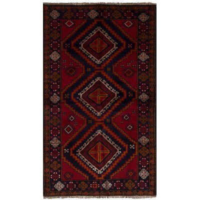 Bethany Traditional Hand-Knotted Wool Red Area Rug