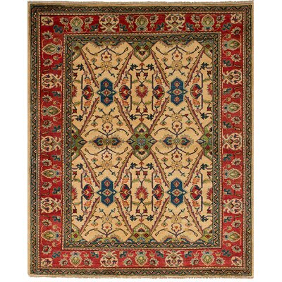 Bernard Traditional Hand-Knotted Wool Cream Area Rug