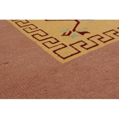 Bettina Hand-Knotted Wool Dark Red/Tan Area Rug