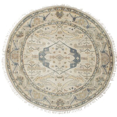 Amberboi Hand-Knotted Wool Cream Area Rug