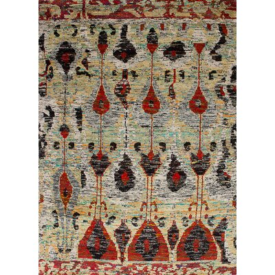 One-of-a-Kind Bert Hand-Knotted Cream/Gray Area Rug