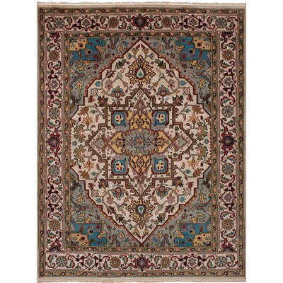 One-of-a-Kind Bertram Hand-Knotted Wool Ivory Area Rug