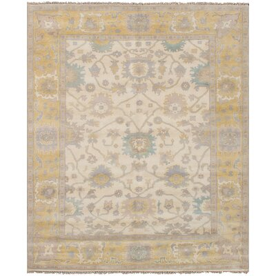 Bason Hand-Knotted Wool Cream Area Rug