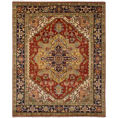 One-of-a-Kind Charleena Hand-Knotted Wool Dark Copper Indoor Area Rug