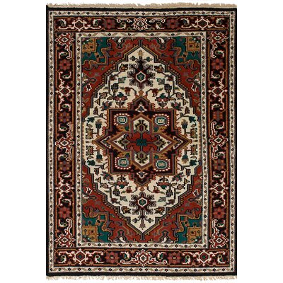 One-of-a-Kind Bertram Hand-Knotted Wool Dark Copper Area Rug