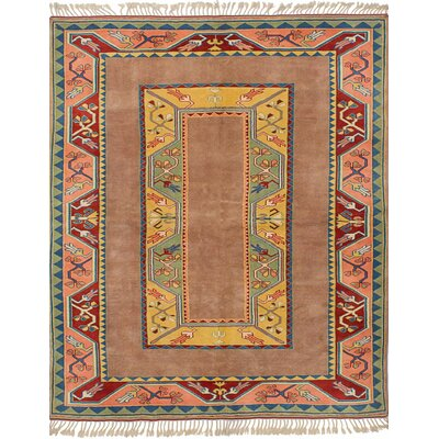 Biddlesden Hand-Knotted Wool Tan Area Rug
