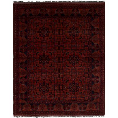 One-of-a-Kind Bilberry Traditional Hand-Knotted Wool Dark Copper Area Rug