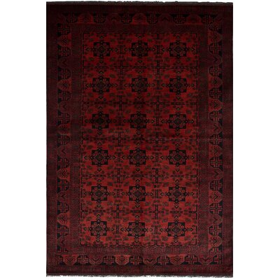 Bilberry Hand-Knotted Wool Dark Copper Area Rug