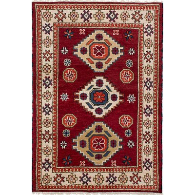 One-of-a-Kind Berkshire Traditional Hand-Knotted Wool Dark Red Area Rug
