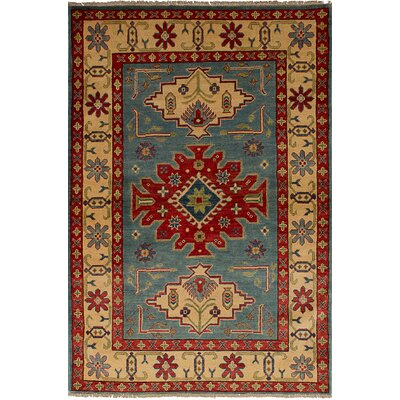 One-of-a-Kind Bernard Traditional Hand-Knotted Wool Light Blue Area Rug