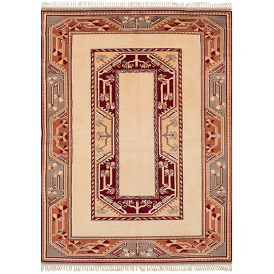 Bettina Hand-Knotted Wool Ivory Area Rug
