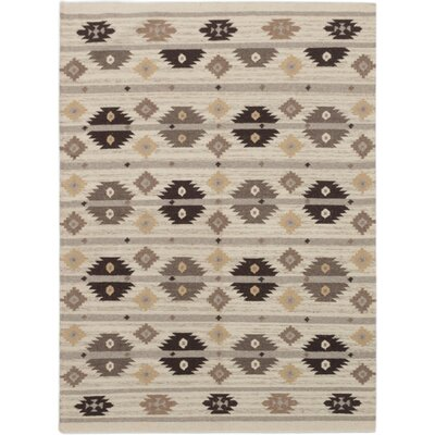Garcia Hand-Woven Wool Cream Area Rug