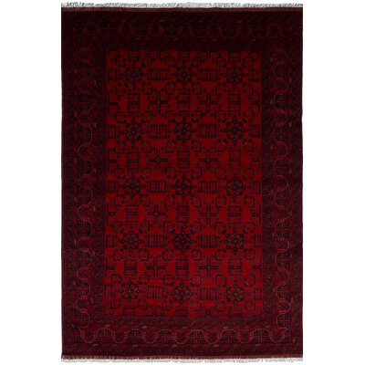 One-of-a-Kind Bilberry Hand-Knotted Wool Dark Red Area Rug