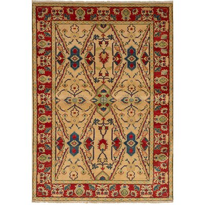 Bernard Hand-Knotted Wool Cream Area Rug