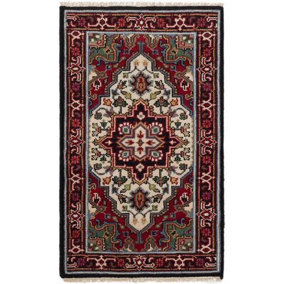 Bertram Hand-Knotted Wool Cream/Red Area Rug