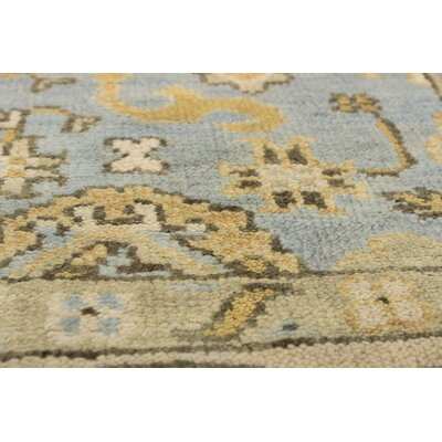 One-of-a-Kind Biddlesden Hand-Knotted Wool Light Gray Area Rug