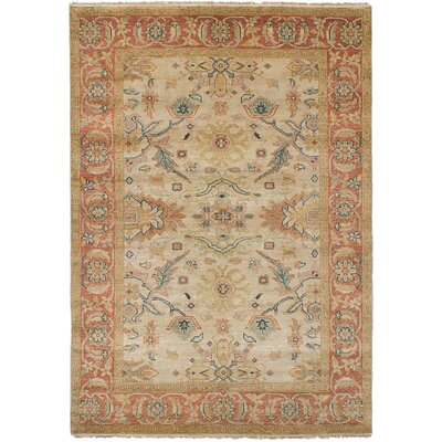 Bassford Traditional Hand-Knotted Wool Cream Area Rug