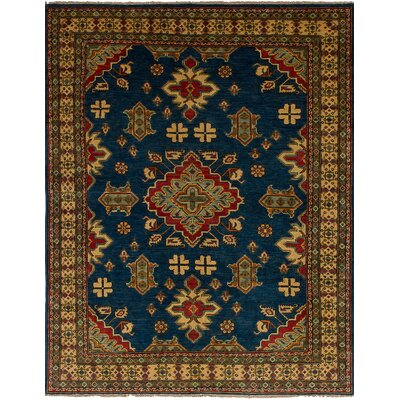 Bernard Hand-Knotted Wool Navy Area Rug