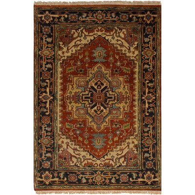 One-of-a-Kind Charleena Traditional Hand-Knotted Wool Dark Copper Area Rug