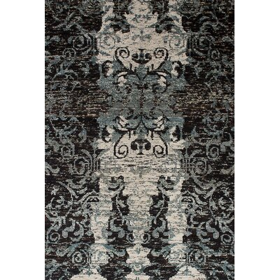 One-of-a-Kind Ambridge Hand-Knotted Silk Black Area Rug