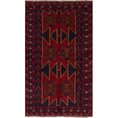 Bilbo Hand-Knotted Wool Red Area Rug