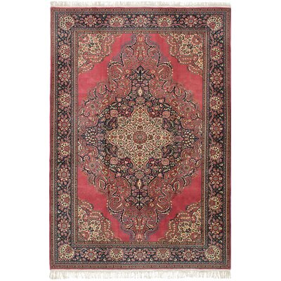 Amberwood Hand-Knotted Wool Dark Pink Area Rug