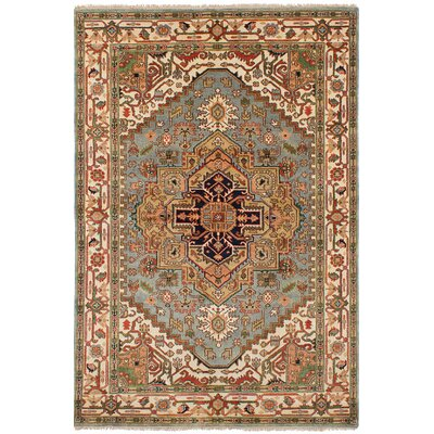 One-of-a-Kind Bilboro Hand-Knotted Wool Light Blue Area Rug