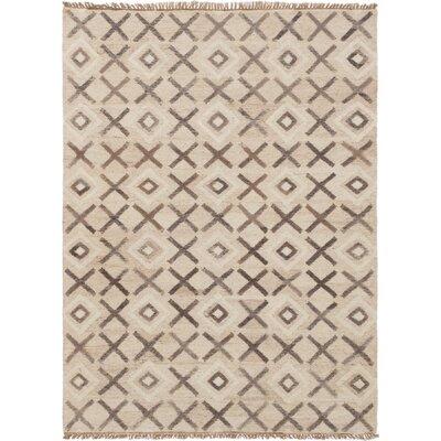 Garcia Hand-Woven Wool Beige Area Rug