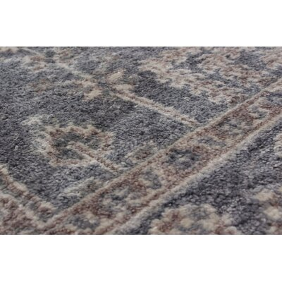Biddlesden Hand-Knotted Wool Dark Gray Area Rug