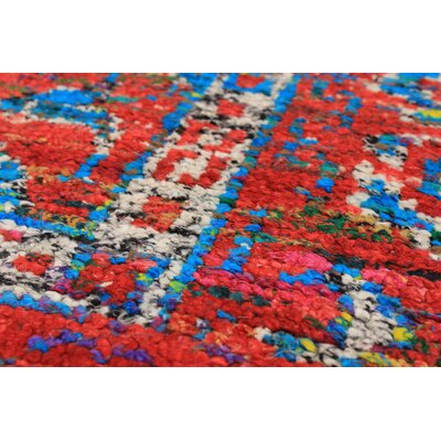 Bert Hand-Knotted Red Area Rug