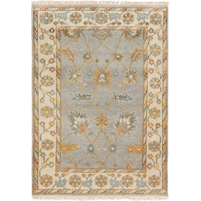 One-of-a-Kind Biddlesden Hand-Knotted Wool Gray Area Rug