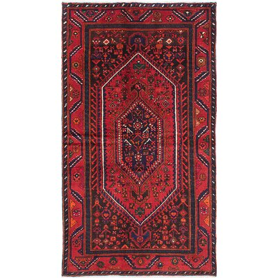 Bilbie Hand-Knotted Wool Dark Burgundy Area Rug