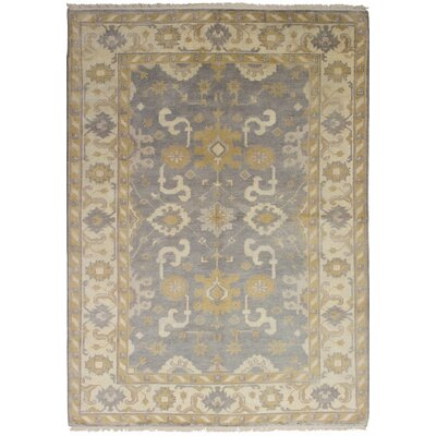 Bason Hand-Knotted Wool Gray Indoor Area Rug